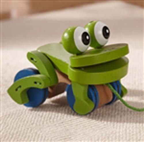Clickity-Clack Frolicking Frog Pull Toy