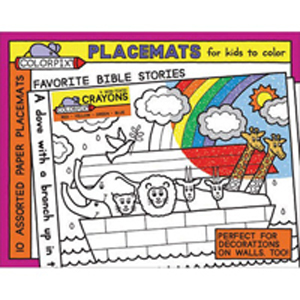 Favorite Bible Stories Coloring Placemats