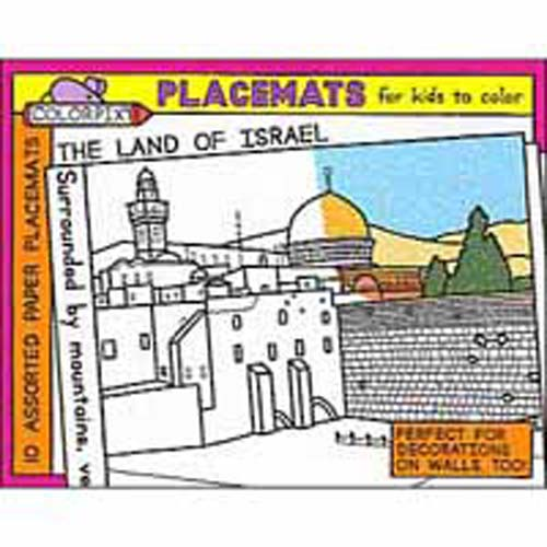 Land of Israel Coloring Placemats