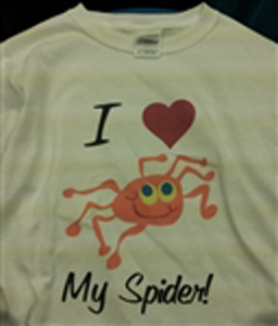 I Love My Spider T-Shirt  Adult XL