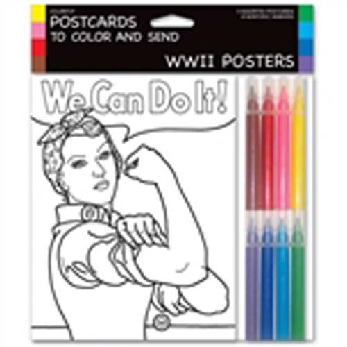 WW II Posters Postcards to Color