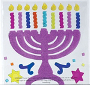 Chanukah Window Gel Decoration - Menorah