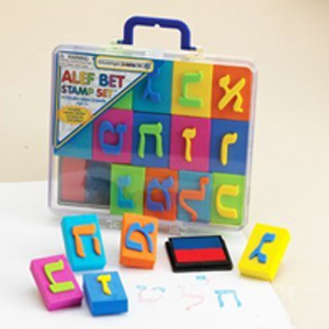 Aleph Bet Foam Stamp Kit