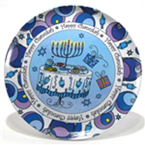 Gift of Chanukah Melamine Serving Platter