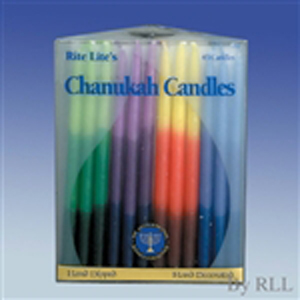 Tri-color Chanukah Candles