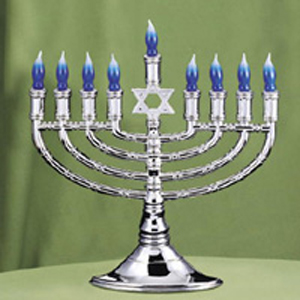 Silvertone Electric Menorah