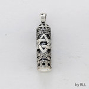 Filligree Star Mezuzah Pendant with Chain