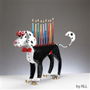 Dashing Dalmatian Menorah