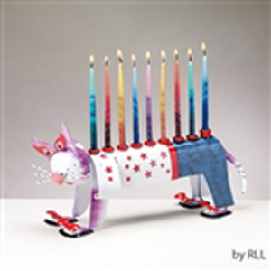 Ketzel the Cat Menorah