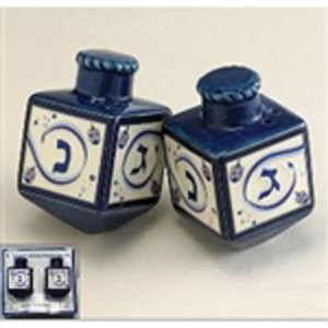 Dreidel Salt & Pepper Shakers Chanukah Ribbons