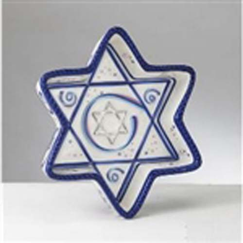 Chanukah Ribbons Star Tidbit Tray