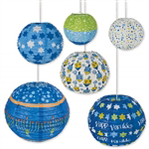 Chinese Lanterns with Hanukkah Motif