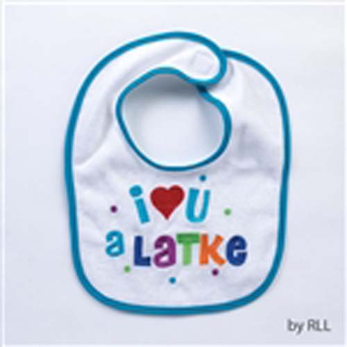 I Love U a Latke Bib for Baby's Hanukkah