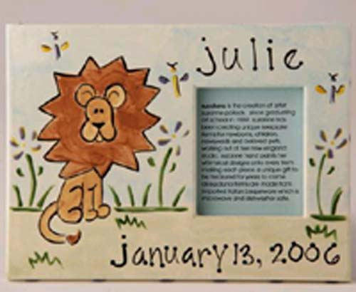 Personalized Picture Frame - Lion