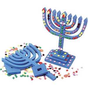 Foam Menorah Craft