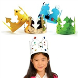White Craft Crowns - pack of 24