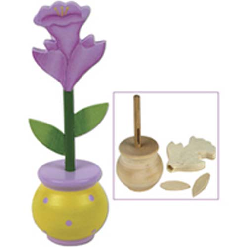 Iris in a Pot - Wood Craft