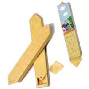 Israel Mezuzah Wood Craft
