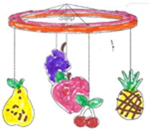 Sukkah Fruit Mobile Craft