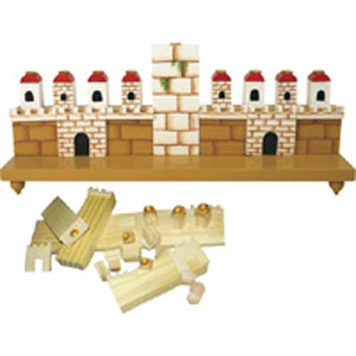 Jerusalem Menorah - Wood Craft