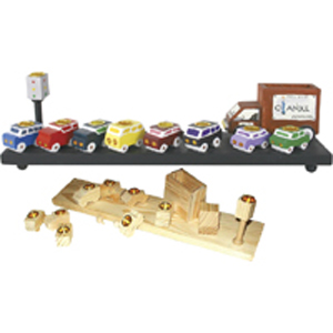 Traffic Menorah - Wood Craft