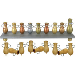 Jug of Oil Menorah - Wood Craft