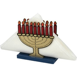 Menorah Napkin Holder - Wood Craft