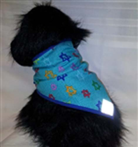 Stars of David Dog Bandana XL with brightly colored stars