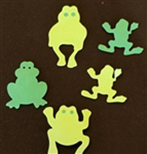 Frogs Everywhere with these Poly Foam Frog Cut Outs
