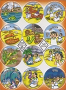 Ten Plagues Passover Stickers