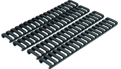 BLACK LADDER RAIL COVERS SET OF 4