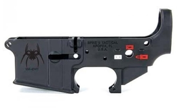 *BLEM* SPIKE'S TACTICAL COLOR FILLED AR15 STRIPPED LOWER RECEIVER- SPIDER