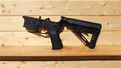 RXA ASSEMBLED AR15 LOWER HALF - BLACK MAGPUL MOE CARBINE STOCK