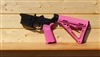 RXA ASSEMBLED AR15 LOWER HALF - PINK MAGPUL MOE CARBINE STOCK