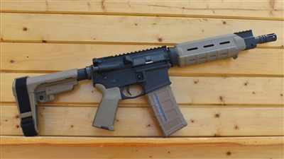 "10.5"" RXA 5.56 NATO FDE MOE PISTOL w/SBA3 ADJUSTABLE BRACE; 4150 CMV 1:7 LIGHT"