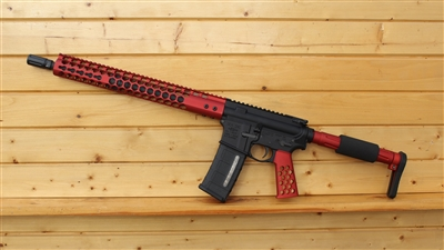 "16"" RXA 5.56 NATO MID-LENGTH RED HONEYCOMB SKELETON RIFLE"