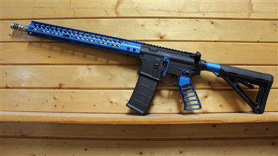 "16"" RXA 5.56 NATO MID-LENGTH BLUE HONEYCOMB SKELETON RIFLE"
