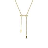 Diamond necklace in 14K yellow gold.