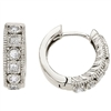 Diamond hoops in 14K white gold with .42ct total diamond weight.