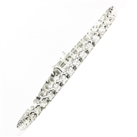 Diamond bracelet with 3ct total diamond weight in 14K white gold.