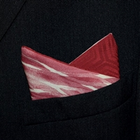 """Burgundy Birches"" - Reversible Pocket Square"