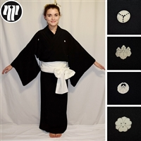 """Black is Back and Beautiful"" Woman's Kimono"