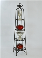 Four Tier Etagere Plant/Dish Stand