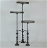 3 Tiered Metal Accent Table, by Luna Bella