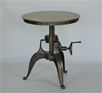 Adjustable Industrial Accent Table