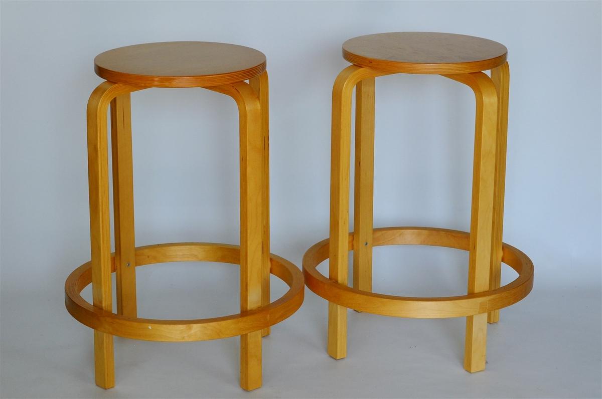 bentwood stackable counter stools  alvar aalto inspired set of  -