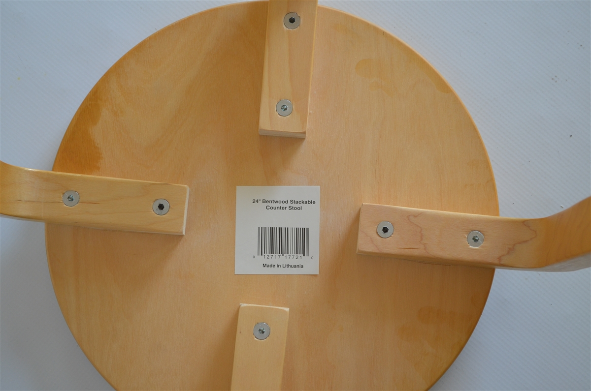 & Bentwood Stackable Counter Stools - Alvar Aalto inspired. Set of 4 islam-shia.org