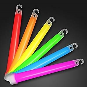 WeGlow 6 inch LightSticks - White