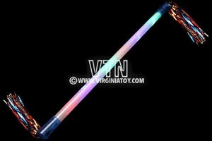 Light Up Baton with Tinsel