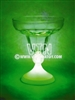 Faceted Margarita Glass 12oz - Green